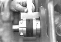 Hayes Coupling checked with straight edge - insert installed
